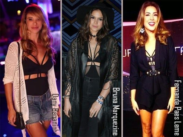 body-bodysuit-strappy-famosas-celebridades-estilo-moda-fashion-look-tendencia-trendy-bruna-marquezine-dani-bananinha-fernanda-paes-leme
